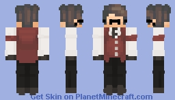baoshan's red butler skin Minecraft Skin