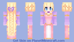 Barbie Rapunzel Minecraft Skin