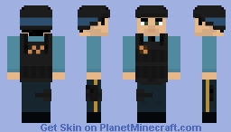 Barney Calhoun Security Guard Minecraft Skin
