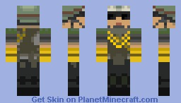 Battlefield 3 Support ARMY GREEN Minecraft Skin