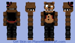 Remastered Freddy The Bear Plus - Five Night At Freddy's Plus - Minecraft Skin Minecraft Skin