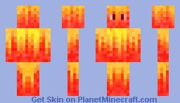 Flame Elemental Minecraft Skin