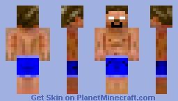 Beach Herobrine Minecraft Skin