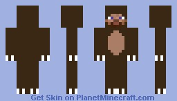 Steve in a bear suit Minecraft