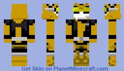 Power ranger gold beast morphers Minecraft Skin
