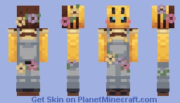 •𝐛𝐞𝐞𝐬 𝐤𝐧𝐞𝐞𝐬• ༶ ✿𝘊𝘰𝘯𝘵𝘦𝘴𝘵 𝘌𝘯𝘵𝘳𝘺✿ Minecraft Skin