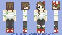 𝘮𝘶𝘴𝘩𝘳𝘰𝘰𝘮 𝘨𝘪𝘳𝘭 ༶ •𝐛𝐞𝐞𝐬 𝐤𝐧𝐞𝐞𝐬 𝐜𝐨𝐧𝐭𝐞𝐬𝐭• Minecraft Skin