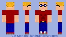 blonde gamer Minecraft Skin