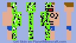 island-creeper-man Minecraft Skin