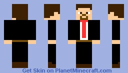 a suit with red tie Minecraft Skin