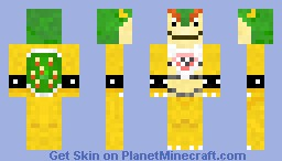 Baby Bowser with Bib Minecraft Skin