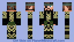 Big Boss (Naked Snake) Minecraft Skin