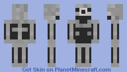 Bitcraft Skeleton Minecraft Skin