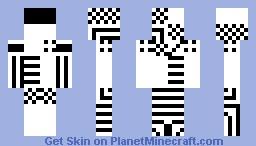 Black n' White Minecraft Skin