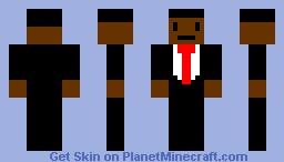 Black Suit Man Minecraft Skin