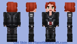 Black Widow | MCU (Avengers 1) [Steve Arms In Desc.] Minecraft Skin