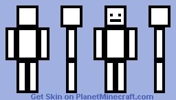 black and white man Minecraft Skin