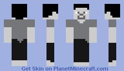 Black and white steve Minecraft Skin