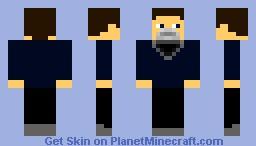 Guy with Black beard Minecraft Skin