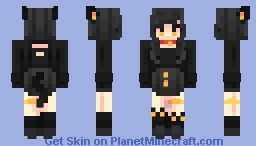 black kitten -/ skintober d.one Minecraft Skin