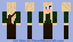 Blond Hunter Girl Minecraft Skin
