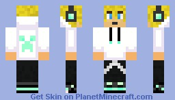 DiamondCreep; the new Teen-sensation! (Blonde hair) Minecraft Skin