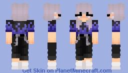 blue fire girl Minecraft Skin