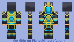 Blue Samurai Assassin Minecraft Skin