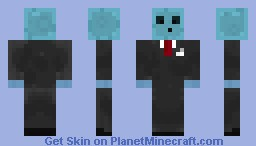 Blue Slime Minecraft Skin
