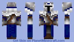 Blue Warrior Skin Mix Minecraft Skin
