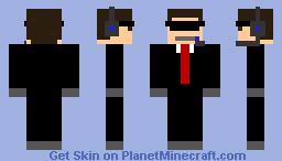 Cia Agent (Blue) Minecraft Skin