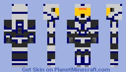 blue and white spartan Minecraft Skin