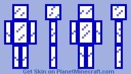 Blue Glass Minecraft Skin