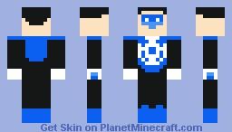 Blue Lantern (Kyle Rayner) Minecraft Skin