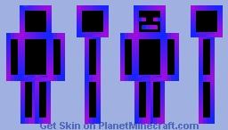 Blue Purple Rgb Minecraft Skin