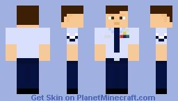 Air Force Blues Short Sleeve Tie Minecraft Skin