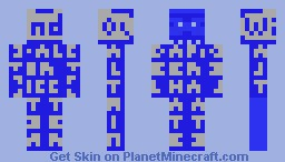 The Blue Screen of Death Minecraft Skin