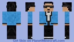 Psy-Blue Suit