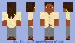 bob marley (better in 3D) Minecraft Skin