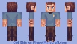 "Doctor Leonard ""Bones"" McCoy Star Trek TOS Minecraft Skin"