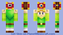 Little Link holding the Pictobox Minecraft Skin