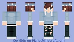 Blue Boy with Bandanna Minecraft Skin