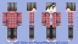 Boy in plaid shirt Minecraft Skin