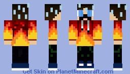 Boy on Fire Minecraft Skin