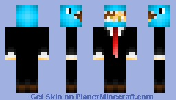 Boy in a blue dino suit (shaded version) Minecraft Skin