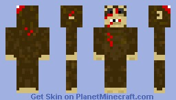 Zombie monkey (brains from timesplitters) Minecraft Skin
