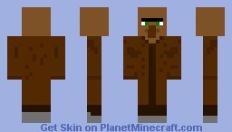 Brown Villager Minecraft Skin