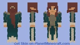 Green Dress Lady [Lord of the Craft] Minecraft Skin