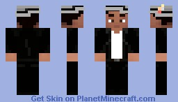 (V4/5) Bruno Mars - Grey 3D Hat and black leather jacket (Wrong Preview) Minecraft Skin