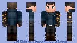 White Wolf - Bucky Barnes | FaWS Minecraft Skin